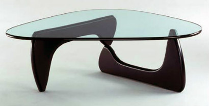 Modern looking coffee table with glass top